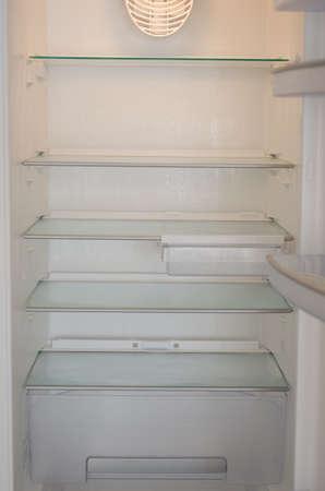 An empty fridge