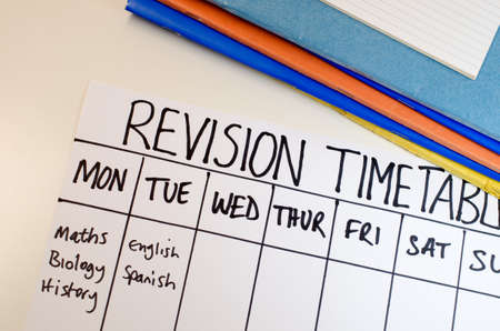 Revision or study timetable concept Stockfoto - 109461697