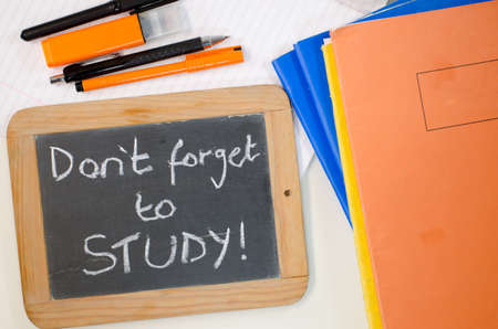 Reminder saying dont forget to study