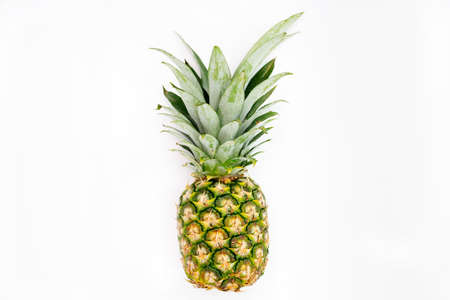 one pineapple isolated on a white backgroun