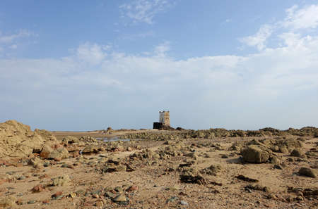 Seymour tower, which you can only walk to at low tide. Located in Jersey, Channel Islands