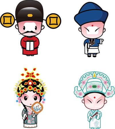 pinafore: beijing opera characters