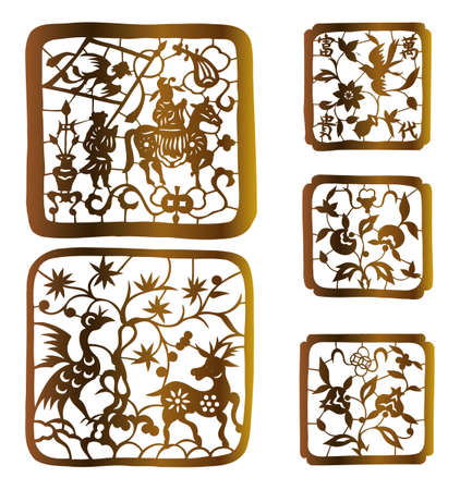 asia deer: paper-cut set twenty-six
