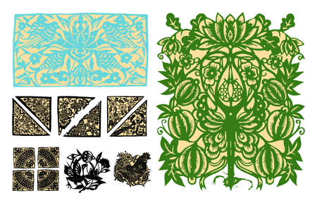 paper-cut set forty-two photo