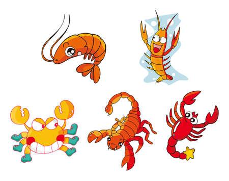 cartoon scorpion: creature set sixteen