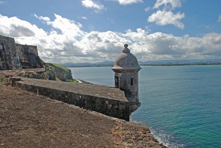 juan: guard tower at El Morro fort Puerto Rico