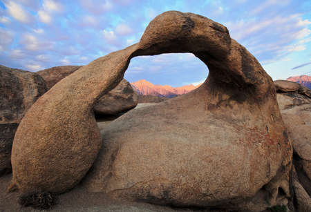 inyo national forest: Mobius Arch in the morning