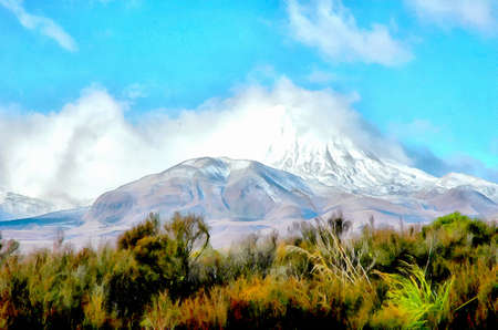 doom: Mount Ruapehu as Mount Doom in Lord of the Rings Stock Photo