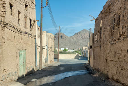 Delerict old earthen houses in ruin