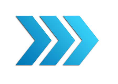 青色の矢印 写真素材