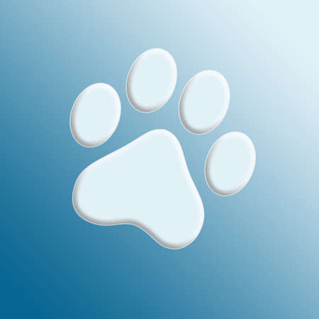embossed: Embossed paw print Stock Photo