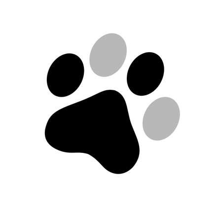 animal paw prints: Dalmatian paw print