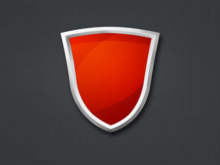 Red shield on a highly detailed metallic texture Stock Photo - 7870799