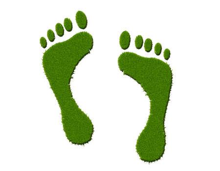 foot marks: Environmental footprint Stock Photo