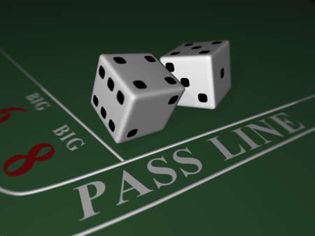 Rolling dice Stock Photo - 7870732