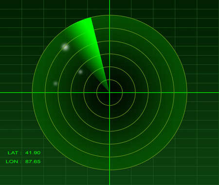 screen: Radar imagery Stock Photo