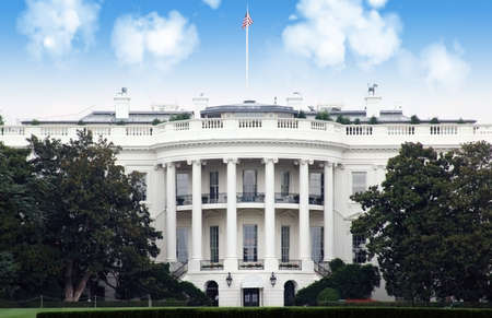 La casa bianca, Washington DC Archivio Fotografico - 8015375