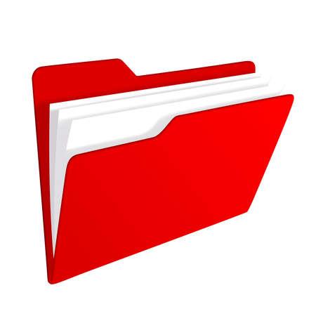 Red Ordner-Symbol  Standard-Bild - 7963719