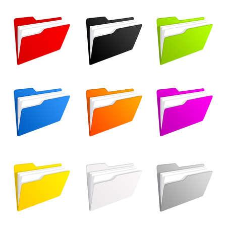 Ordner-icons  Standard-Bild - 7963727