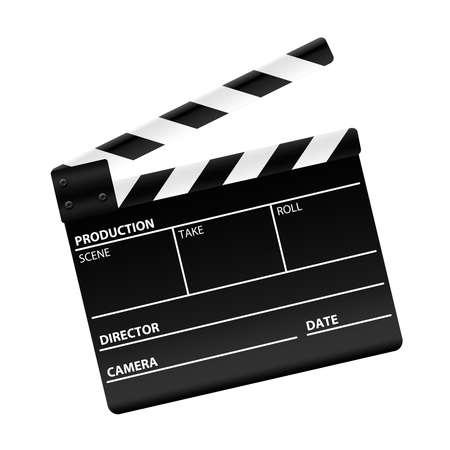 Movie clapper board photo