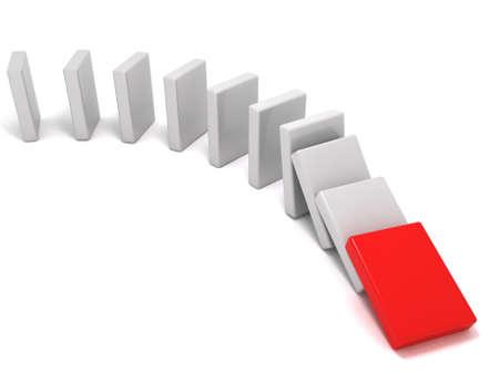 The domino effect photo