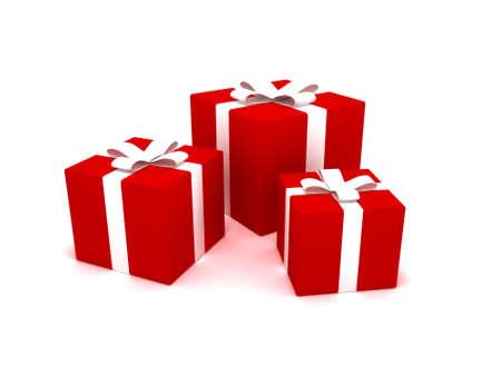 3D rendering of Christmas presents