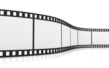 Tira de película de 35 mm en blanco Foto de archivo