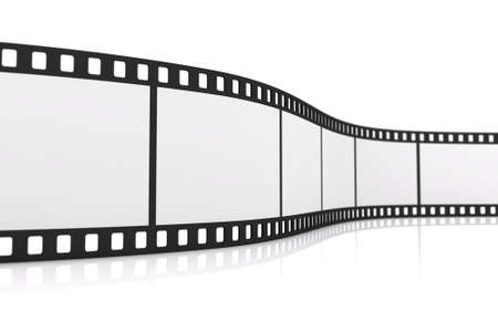 rollo pelicula: Tira de película de 35 mm en blanco
