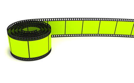 35mm green film strip photo