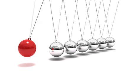 Newton s time cradle pendulum