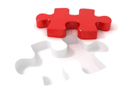Jigsaw puzzle piece cut out from the background Stock Photo - 13276639