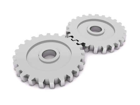 3D metal gears photo