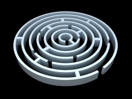 escape: Round maze or labyrinth
