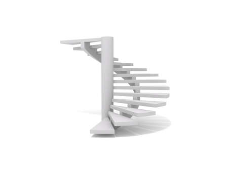 rendering: Spiral staircase Stock Photo