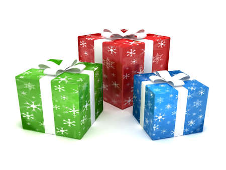three presents: Christmas presents