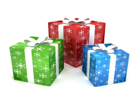 three gift boxes: Regalos de Navidad