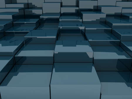 3D blocks abstract pattern Stock Photo - 13343780