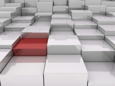 3D blocks abstract pattern Stock Photo - 13343782