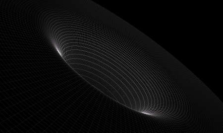 Black hole wireframe