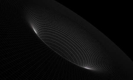 black hole: Black hole wireframe
