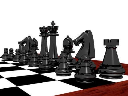 chess rook: Black chess set