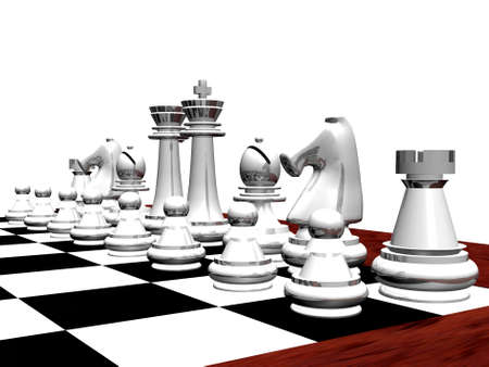 White chess set photo