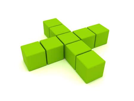 3D green cross photo