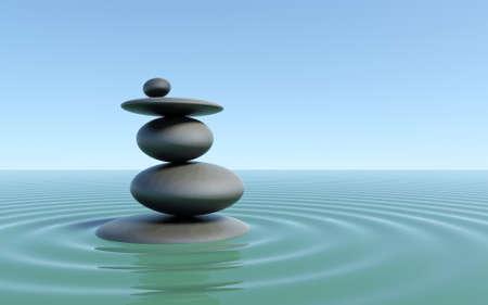 zen water: Zen stones