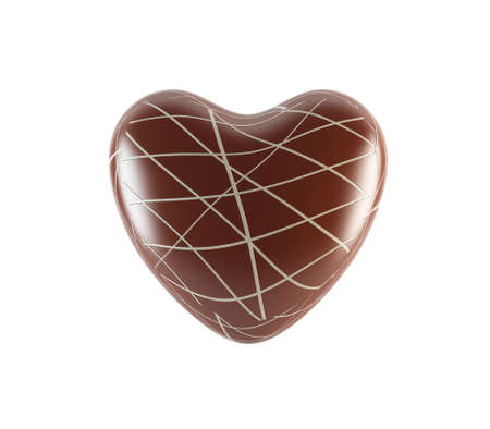 El chocolate del corazón Foto de archivo