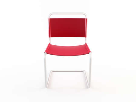 objects: Red office chair