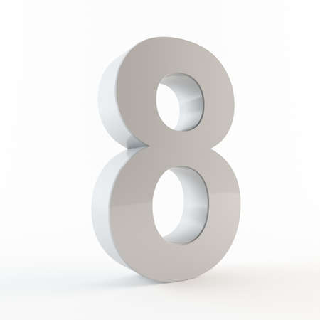 Number 8 Stock Photo - 13432113