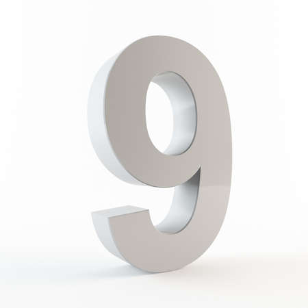 Number 9 Stock Photo - 13432112
