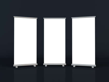 Roll up banners Stock Photo - 13432006