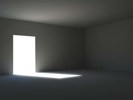 Ambient light in a dark room photo